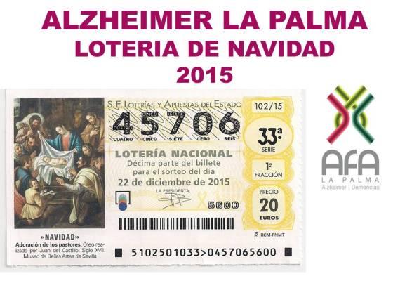 LOTERIA DE NAVIDAD 2015. AFA LA PALMA