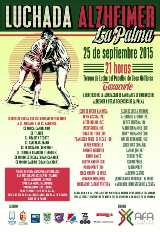 CARTEL LUCHADORES LUCHADA AFA LA PALMA