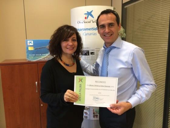 CaixaBank Tazacorte: Empresa comprometida con el Alzheimer. AFA La Palma