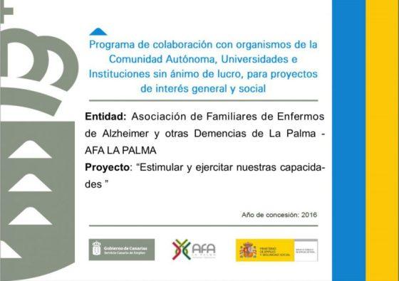 CARTEL CONVENIO SCE AFA LA PALMA 2016