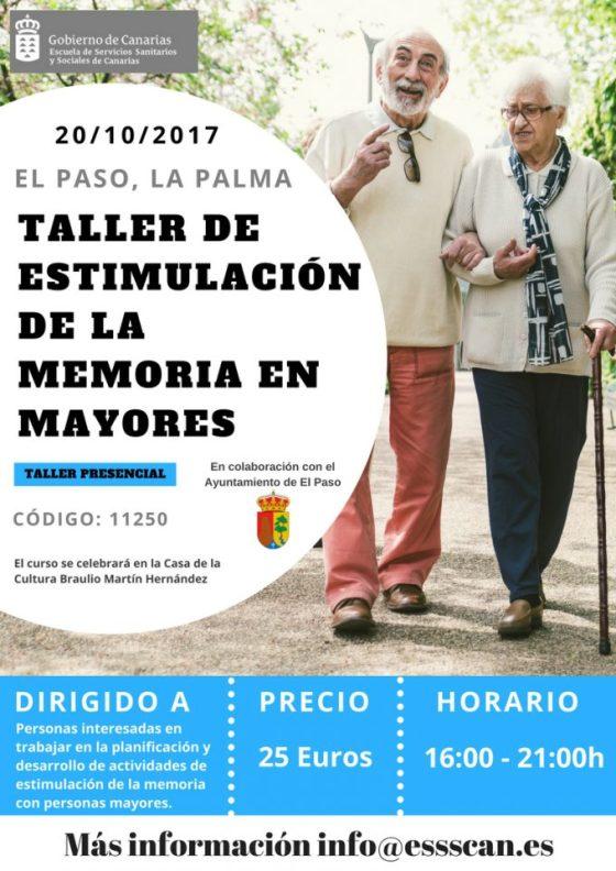 AFA LA PALMA COLABORA CON LA ESSSCAN EN EL TALLER DE ESTIMULACIÓN DE LA MEMORIA EN MAYORES