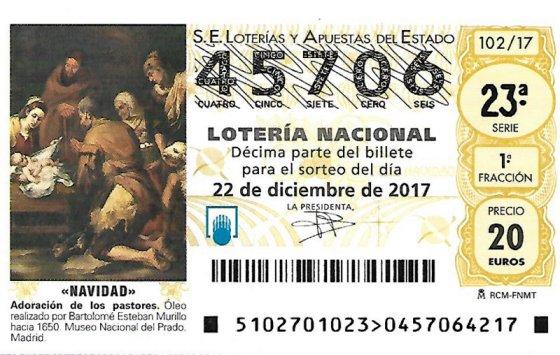 AFA LA PALMA DECIMO LOTERIA NAV 2017