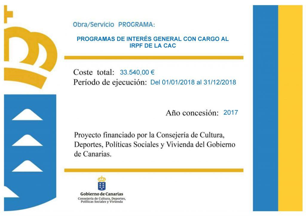 CONV GOB DE CANARIAS AFA LA PALMA IRPF