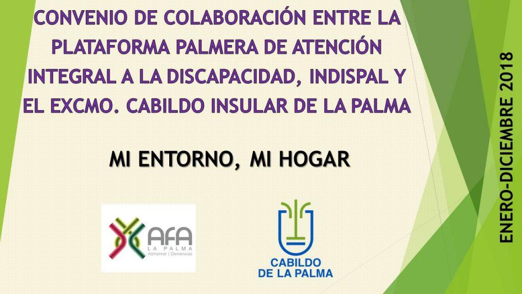 CONVENIO DE COLABORACIÓN CABILDO DE LA PALMA 2018
