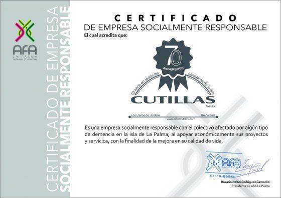 CUTILLAS EMPRESA SOCIALMENTE RESPONSABLE